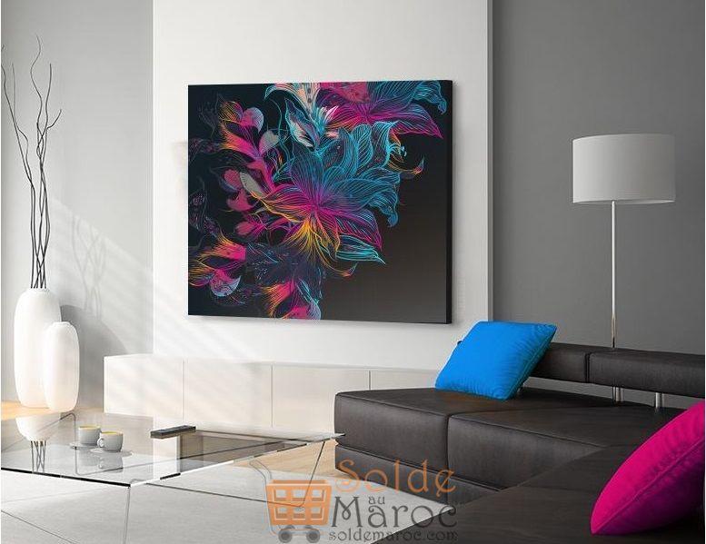 Promo Massinart Tableau décoratif Floral design imprimé en HD 287Dhs au lieu de 319Dhs