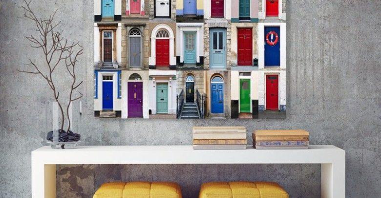 Photo of Promo Massinart Tableau décoratif Front doors imprimé en HD 287Dhs