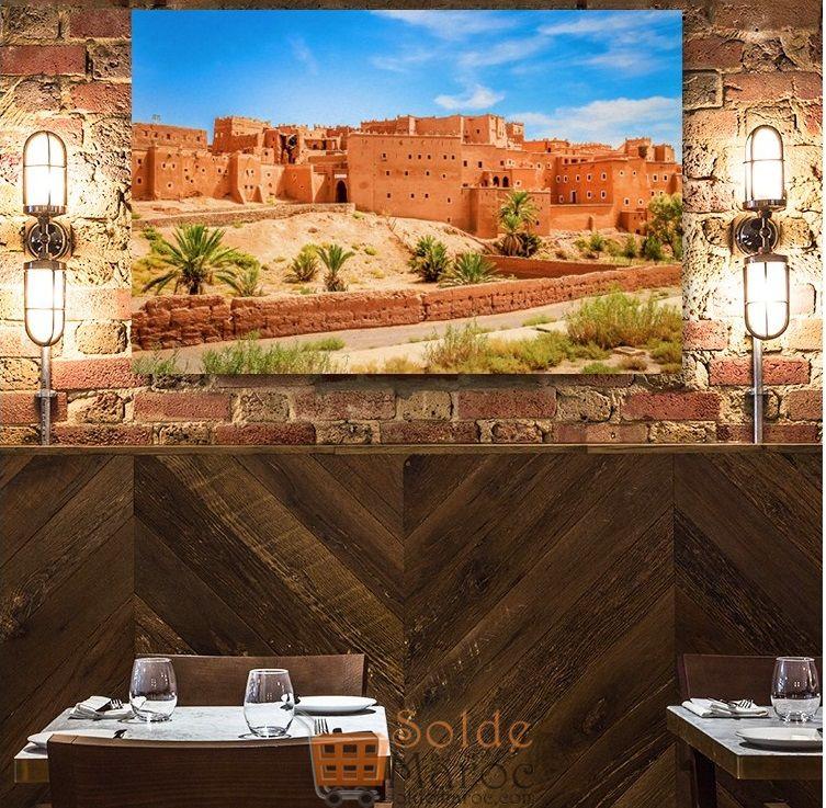 Promo Massinart Tableau décoratif Magnificent Old Kasbah imprimé en HD 170Dhs au lieu de 189Dhs