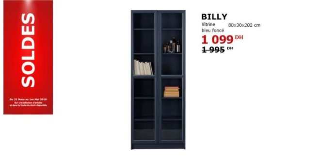 solde ikea maroc vitrine bleu fonc 1099dhs solde et promotion du maroc. Black Bedroom Furniture Sets. Home Design Ideas
