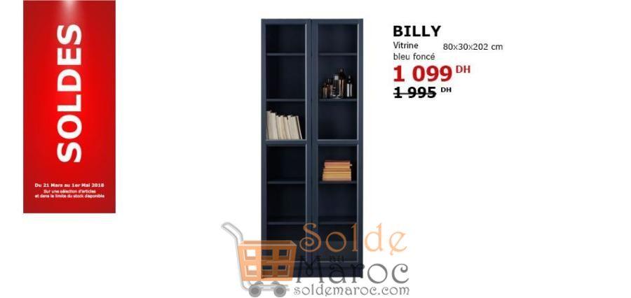 Solde Ikea Maroc Vitrine Bleu foncé 1099Dhs au lieu de 1995Dhs