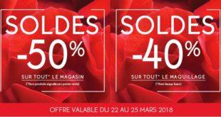 Soldes Yves Rocher -50% -40% du 22 au 25 Mars 2018