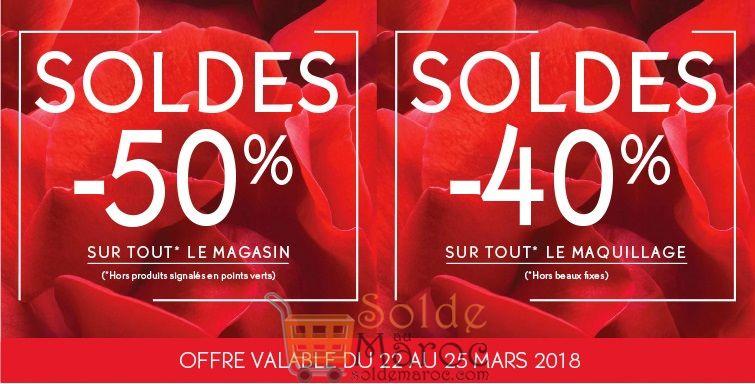Soldes Yves Rocher Maroc -50% -40% du 22 au 25 Mars 2018