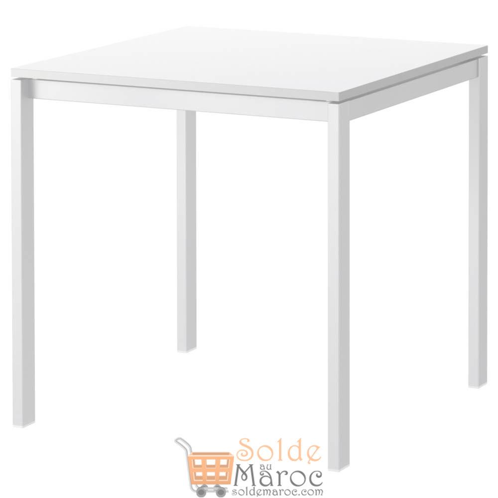 Soldes Ikea Maroc Table blanc MELLTORP 360Dhs au lieu de 449Dhs