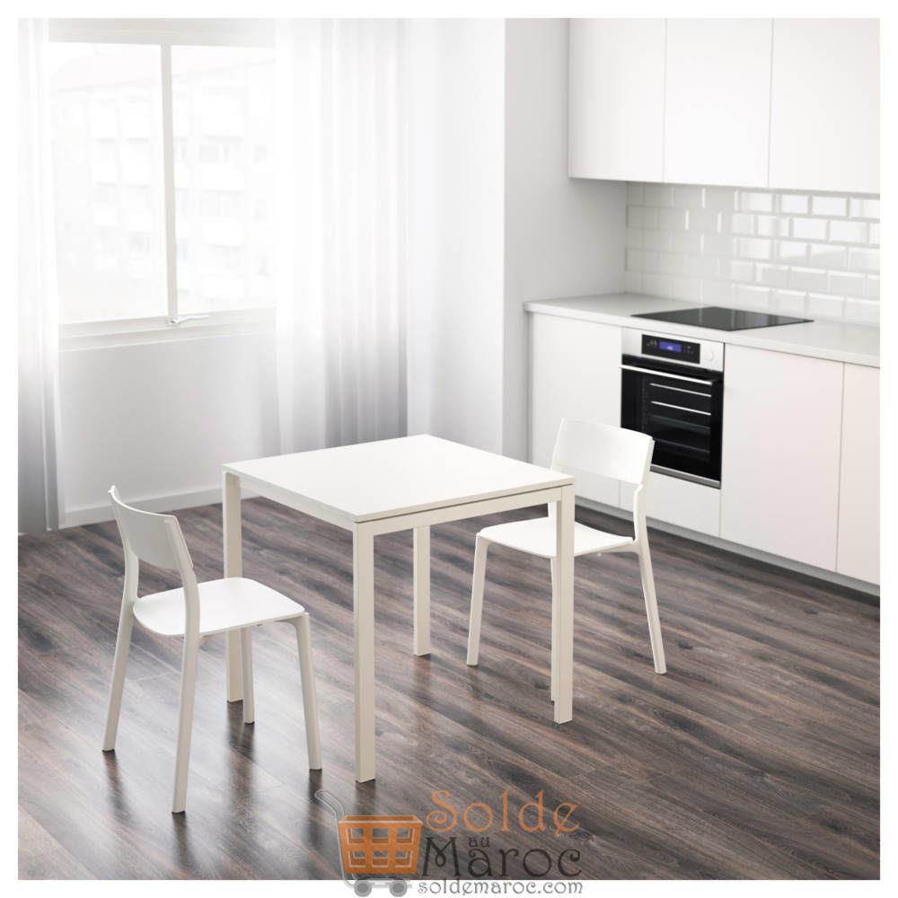 soldes ikea maroc table blanc melltorp 360dhs. Black Bedroom Furniture Sets. Home Design Ideas