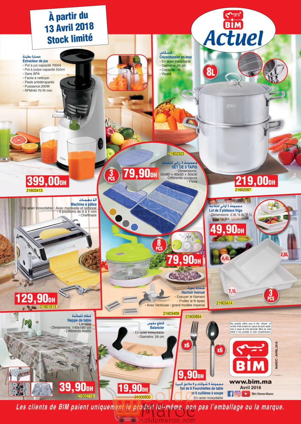 Catalogue Bim Maroc du Vendredi 13 Avril 2018