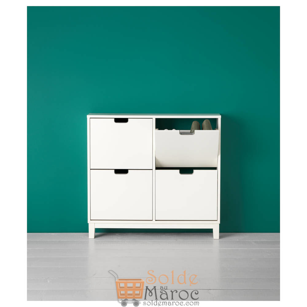 Soldes Ikea Maroc Armoire à chaussures 4 casiers STÄLL 1080Dhs