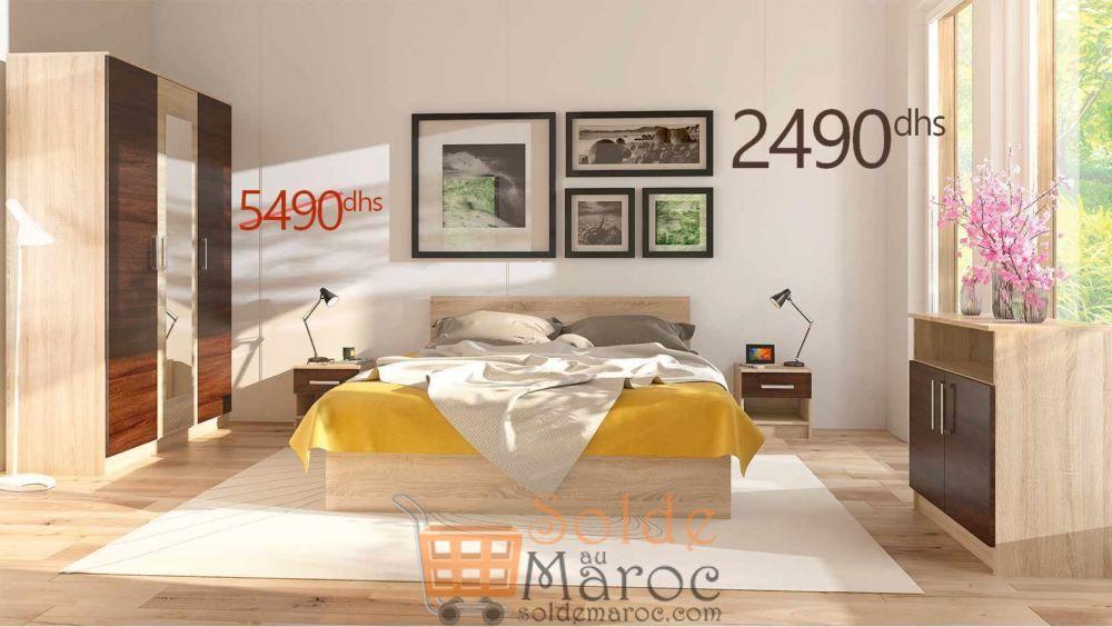 Promo Azura Home Chambre complète RENNES 2490Dhs au lieu de 5490Dhs