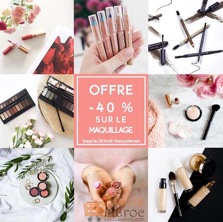 Promo Yves Rocher Maroc -40% Sur le Maquillage Jusqu'au 30 Avril 2018
