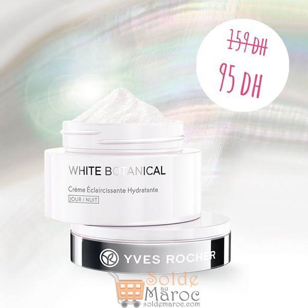 Promo Yves Rocher Maroc Crème Éclaircissement Hydratante Jour/Nuit 95Dhs au lieu de 159Dhs