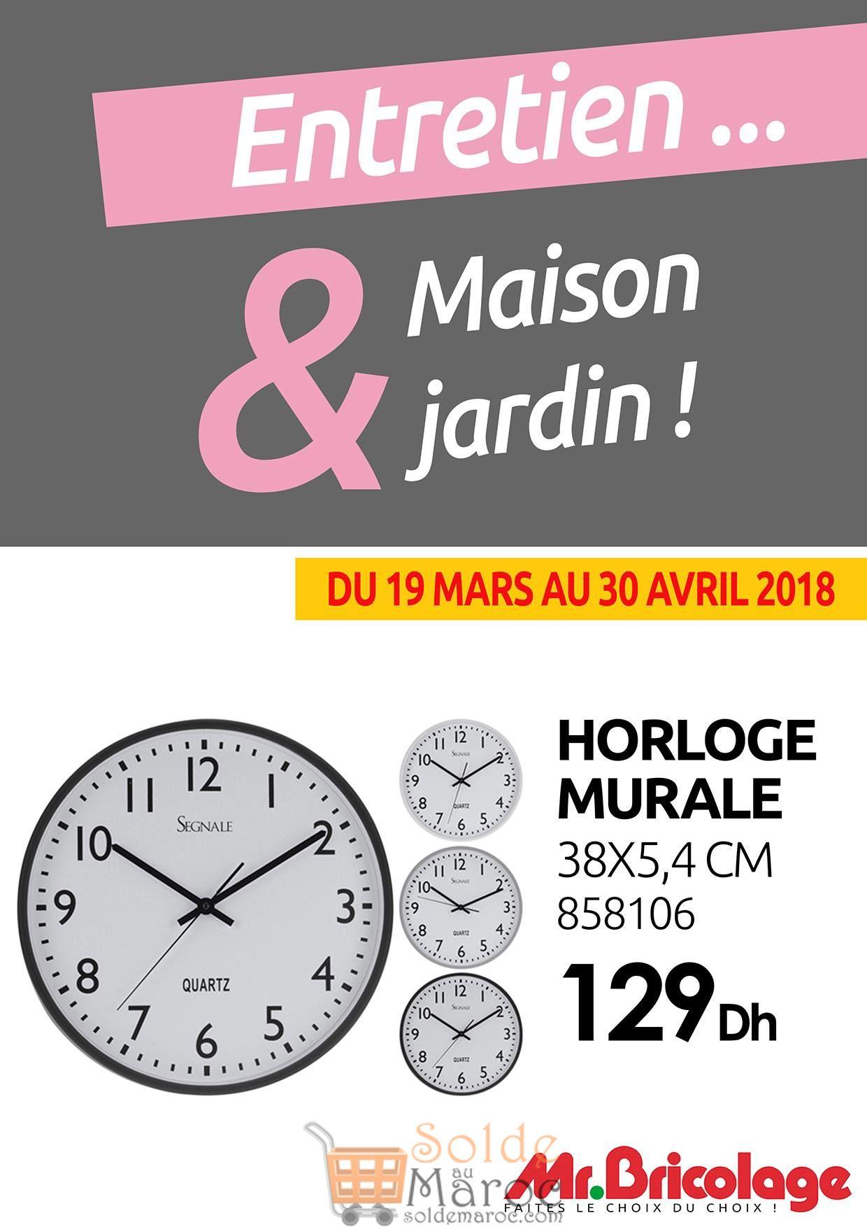 Flyer Mr Bricolage Maroc Spéciale Horloge