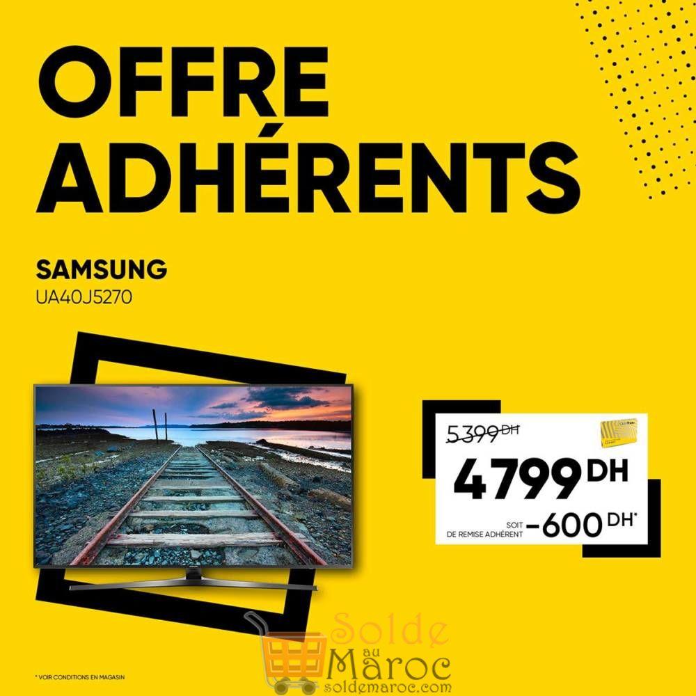 Offre Adhérents Samsung Smart TV chez Fnac Maroc