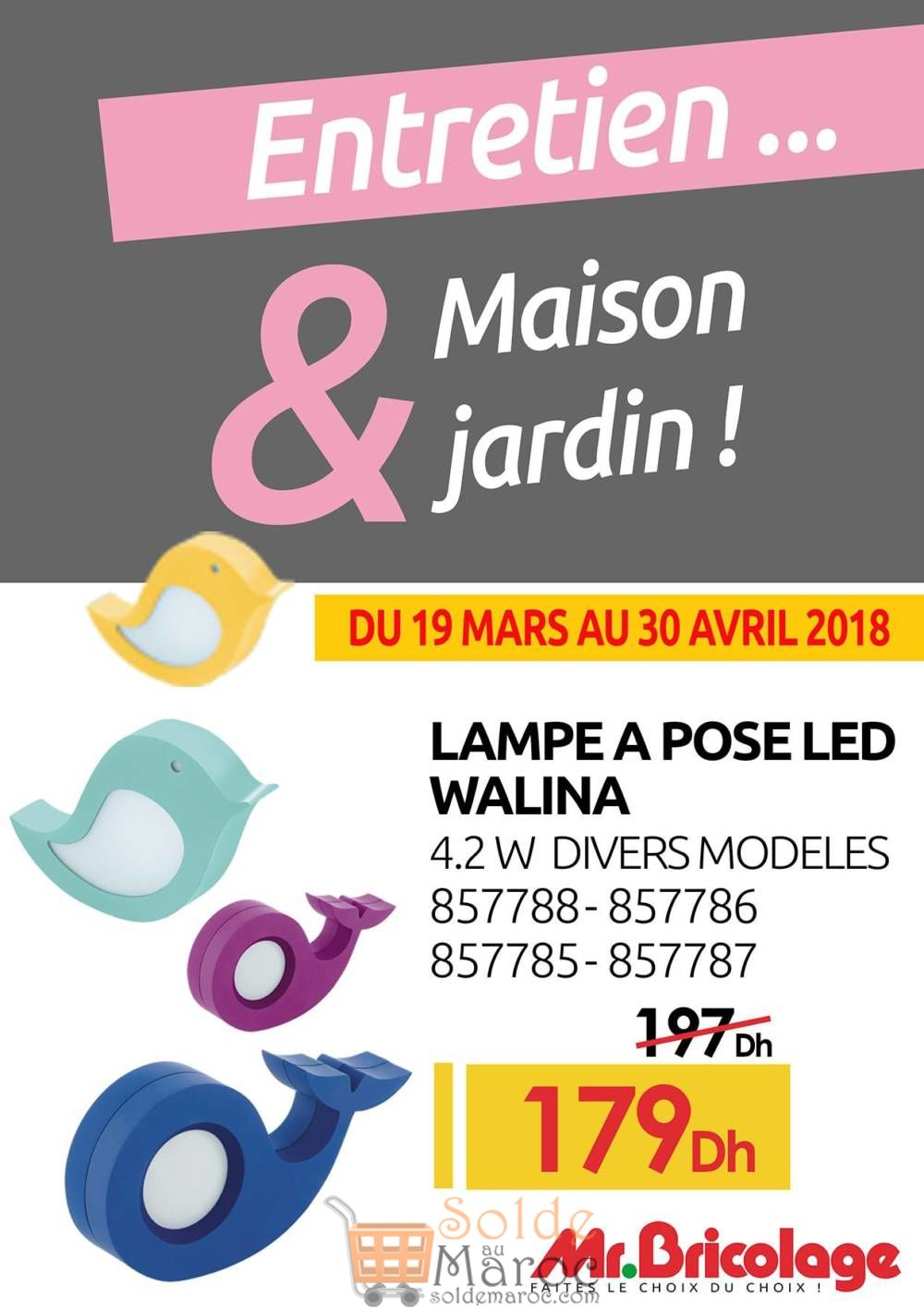 Bricolage Mr Jardinamp; Flyer Maroc Solde Entretien Maison – Spéciale CxBeod