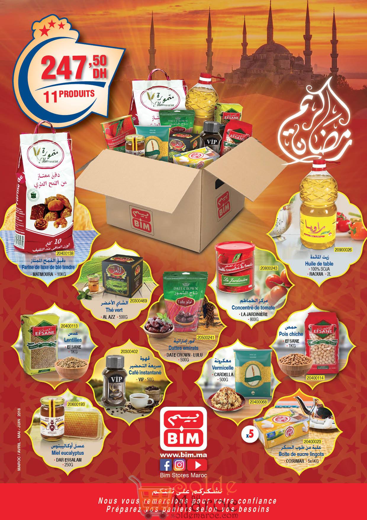 Catalogue Bim Maroc du Mardi 8 Mai 2018