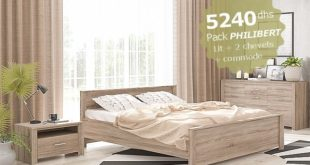 Promo Weekend Azura Home CHAMBRE ADULTE PHILIBERT CHENE CLAIR 5240Dhs