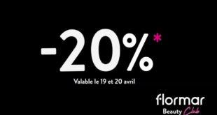 Flormar Beauty Club -20% à partir de 250Dhs d'achat du 19 au 20 Avril