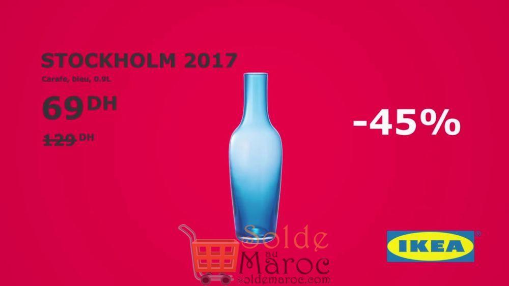soldes ikea maroc carafe bleu stockholm 2017 0 9litre 69dhs les soldes et promotions du maroc. Black Bedroom Furniture Sets. Home Design Ideas
