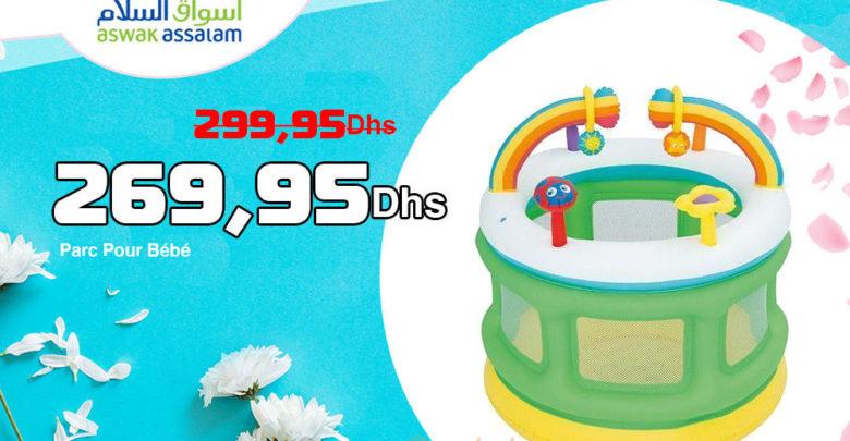 Promo Aswak Assalam Parc Pour Bébé 269,95Dhs au lieu de 299,95Dhs