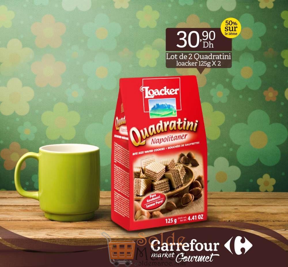 Promo Carrefour Gourmet Lot de 2 Quadratini Loacker 30.90Dhs