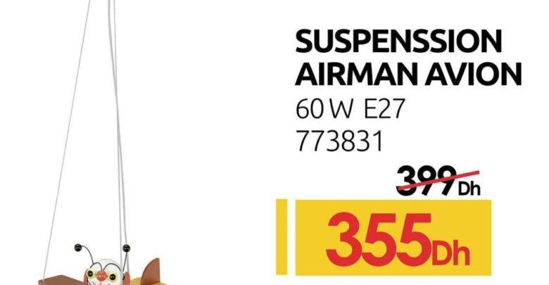 Photo of Promo Mr Bricolage Suspension Airman Avion 60W 355Dhs