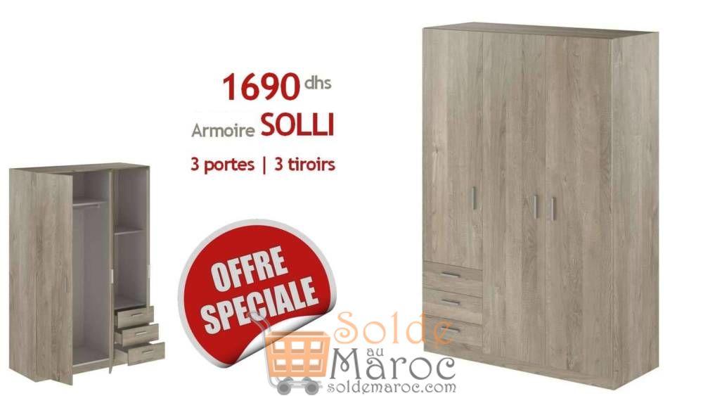 Offre Spéciale Azura Home Armoire SOLLI 1390Dhs au lieu de 2990Dhs