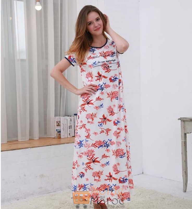 Promo Niswa Pyjamas Été Robe Longue 119Dhs au lieu de 249Dhs