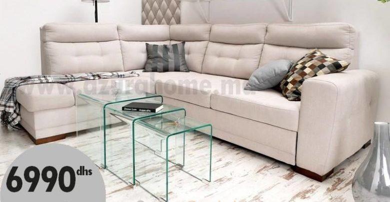 Promo Azura Home Canapé d'angle convertible CILLIAN 6990Dhs au lieu de 8990Dhs
