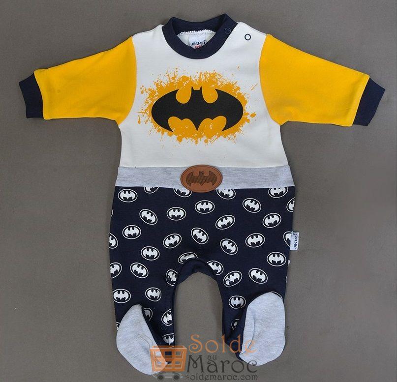 Promo Niswa Grenouillère Bébé Batman 69Dhs au lieu de 149Dhs