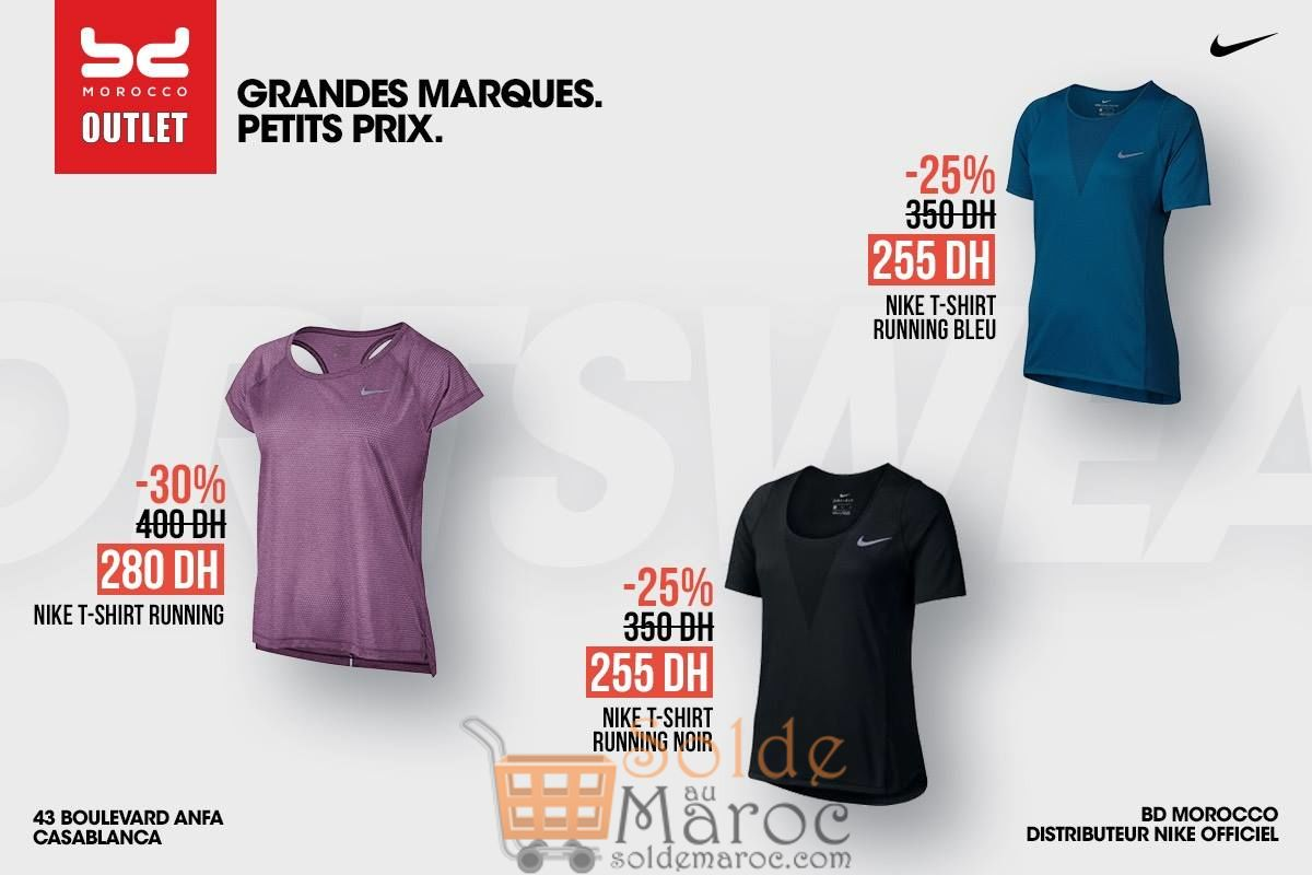Promo BD Morocco Outlet T-Shirt Runnig Nike