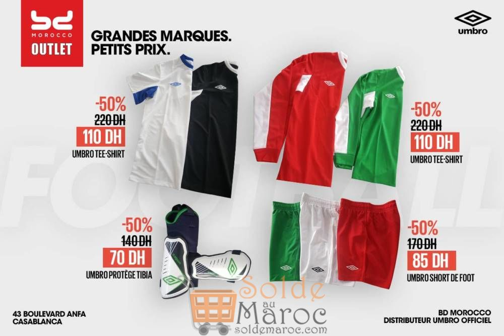 Promo BD Morocco Outlet Articles de Sport UMBRO