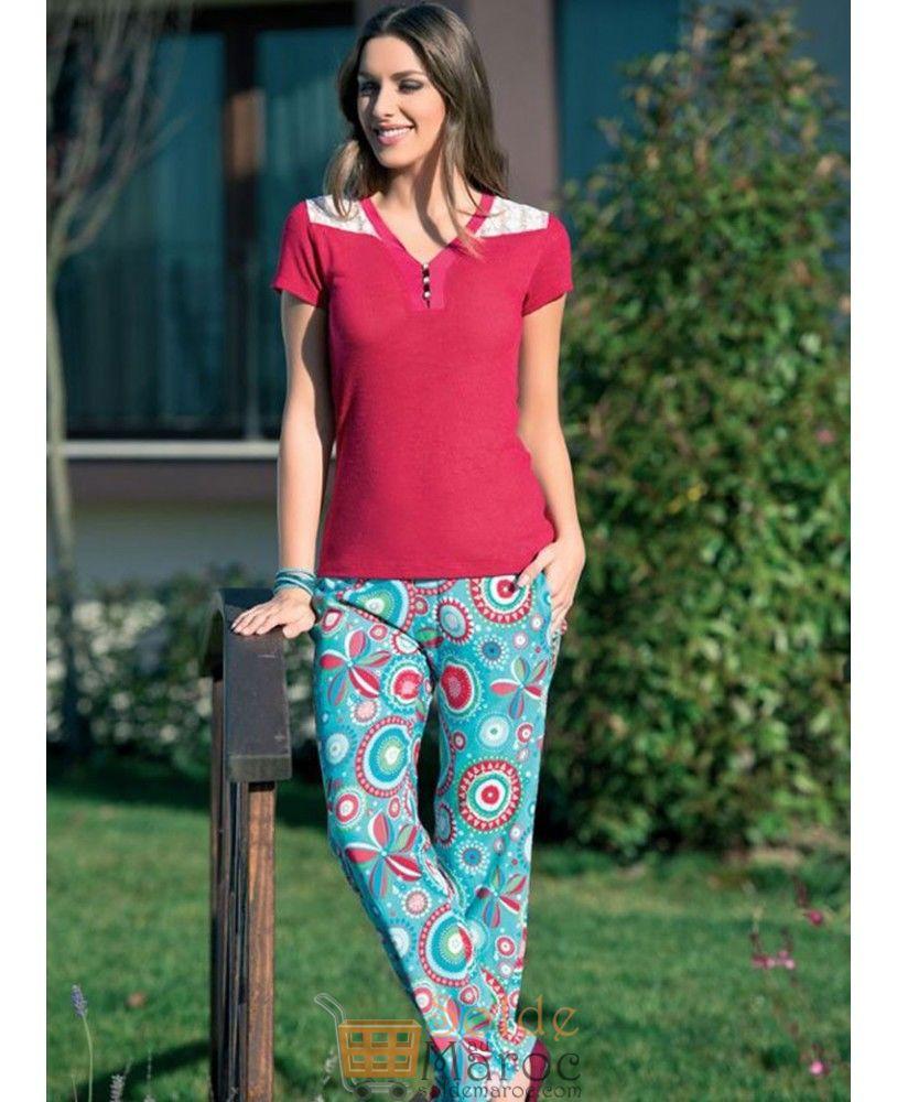 Soldes Niswa Pyjamas Été 2 Pièces 199Dhs au lieu de 399Dhs