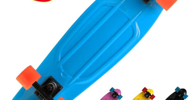 Promo Decathlon Cruiser Skateboard BIG YAMBA Rouge Bleu 519 Dhs au lieu de 609 Dhs