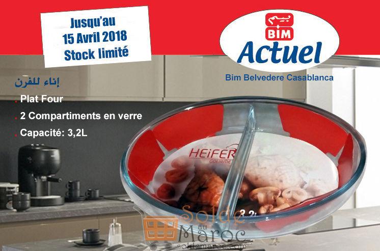 Promo Bim Maroc Belvédère Plat Four 2 Compartiments 45Dhs au lieu de 75Dhs