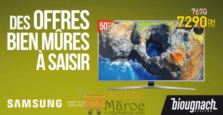 "Promo Biougnach Smart TV Samsung 50"" UHD 7290Dhs au lieu de 7690Dhs"