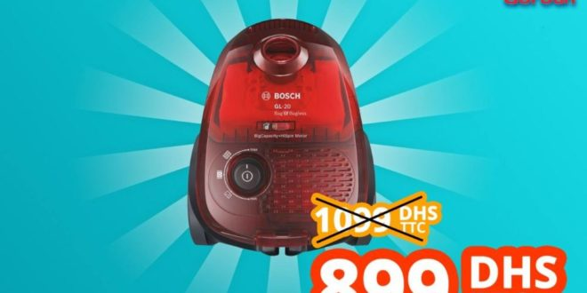 promo abroun electro aspirateur bosch gi 20 avec sans sac rouge translucide 899dhs les soldes. Black Bedroom Furniture Sets. Home Design Ideas
