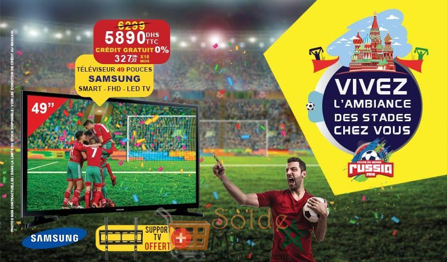 """Promo Electro Bousfiha Smart TV 49"""" SAMSUNG + Support 5890Dhs au lieu de 6299Dhs"""