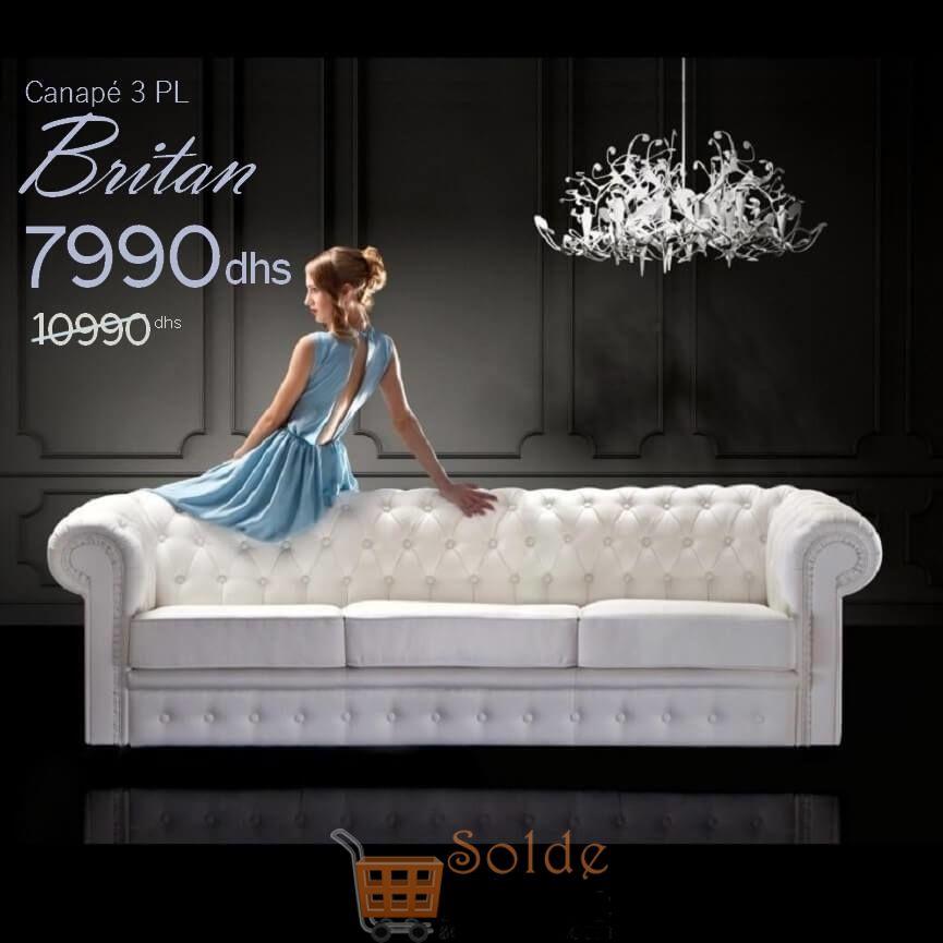Promo Azura Home Canapé BRITAIN 3places 7990Dhs au lieu de 18317Dhs