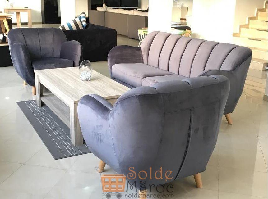 Promo Azura Home Canapés SVENN 3places + 2 fauteuils 11990Dhs au lieu de 12490Dhs