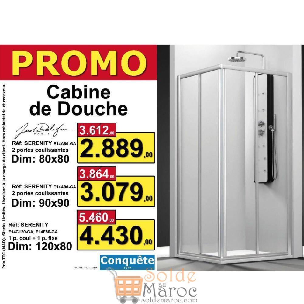 Promo Conquête Cabines de douche de Jacob Delafon