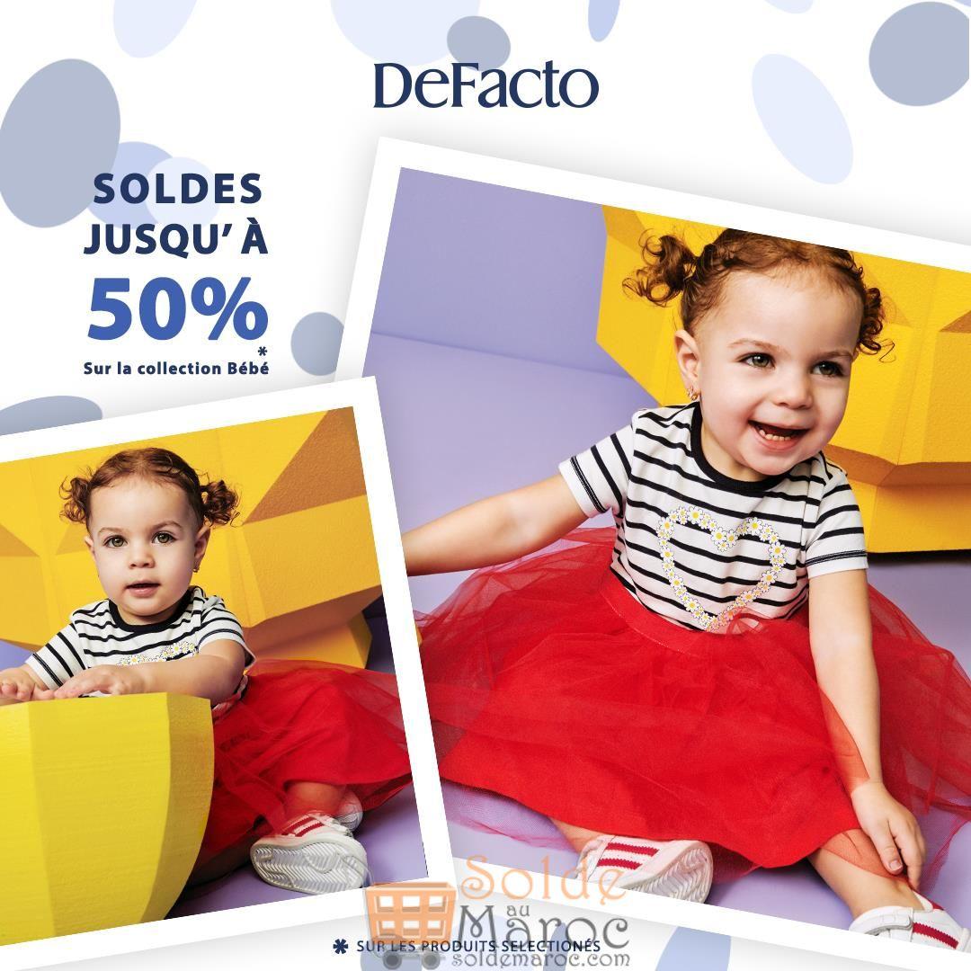 Soldes Defacto Maroc Jusqu'à 50% de réduction sur la collection bébé
