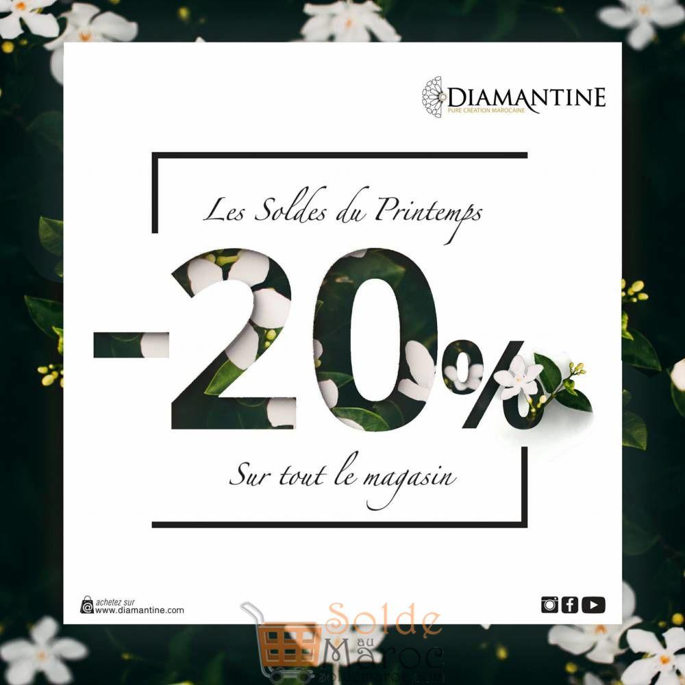 Fêter le printemps avec Diamantine Maroc -20% valable dans tous les Magasins