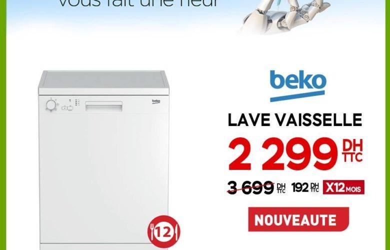 Promo Electroplanet Lave vaisselle BEKO 2299Dhs au lieu de 3699Dhs