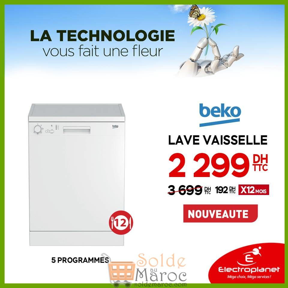 nouvelle arrivee 34093 ff5fe Promo Electroplanet Lave vaisselle BEKO 2299Dhs – Solde et ...