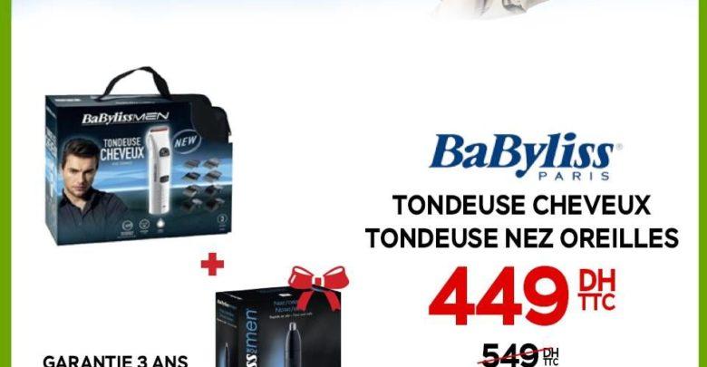 Promo Electroplanet 2 Tondeuses BaByliss Cheveux et Nez Oreilles 449Dhs au lieu de 549Dhs