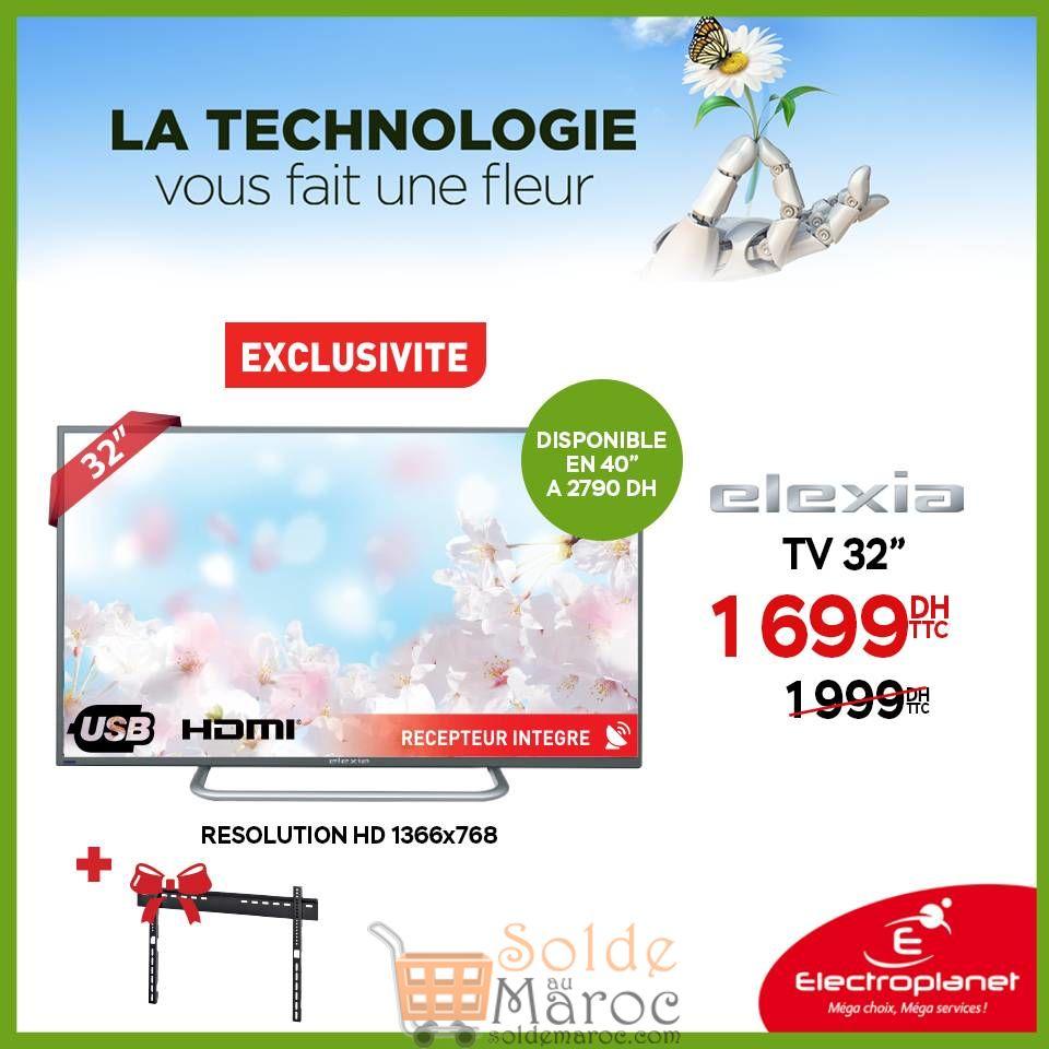 """Promo Electroplanet TV Elexia 32"""" 1699Dhs au lieu de 1999Dhs"""