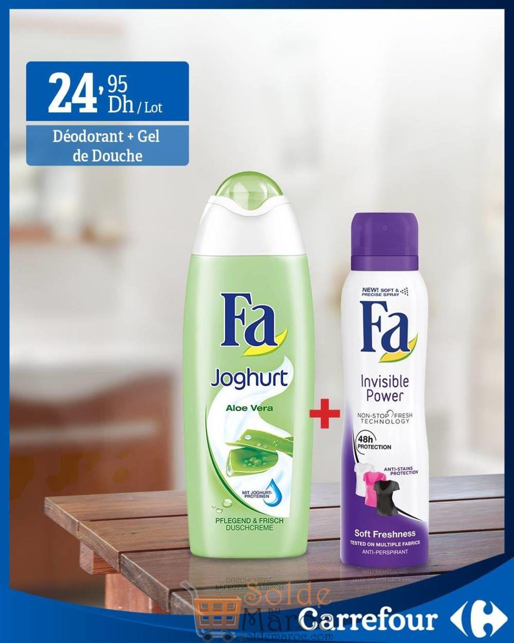 Pack Déodorant + Gel de douche Fa en promo chez Carrefour Maroc