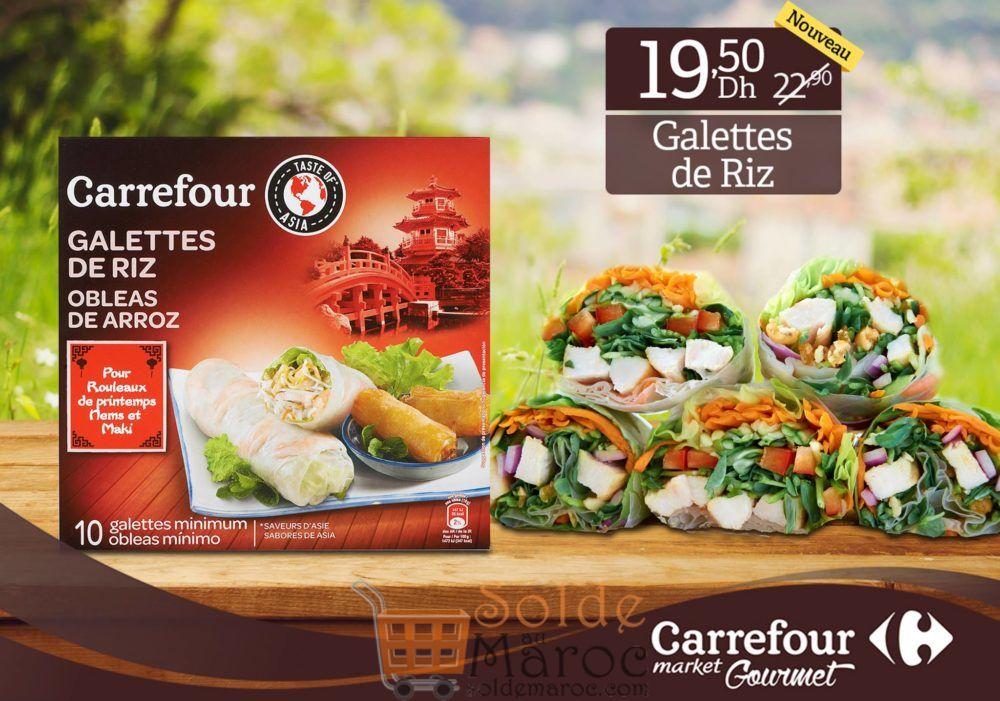 Promo Carrefour Gourmet Galettes de Riz OBLEAS DE ARROZ 19.50Dhs au lieu de 22.90Dhs