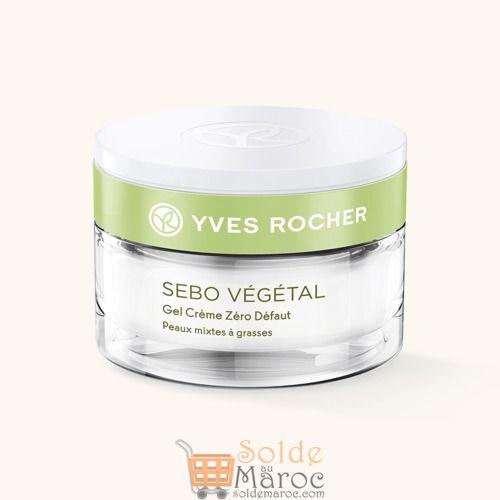 Promo Yves Rocher Maroc Gel crème Zéro Défaut de la gamme Sebo Végétal 70Dhs au lieu de 119Dhs