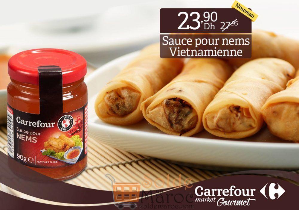 Promo Carrefour Gourmet Sauce vietnamienne pour Nems 23.90Dhs au lieu de 27.95Dhs