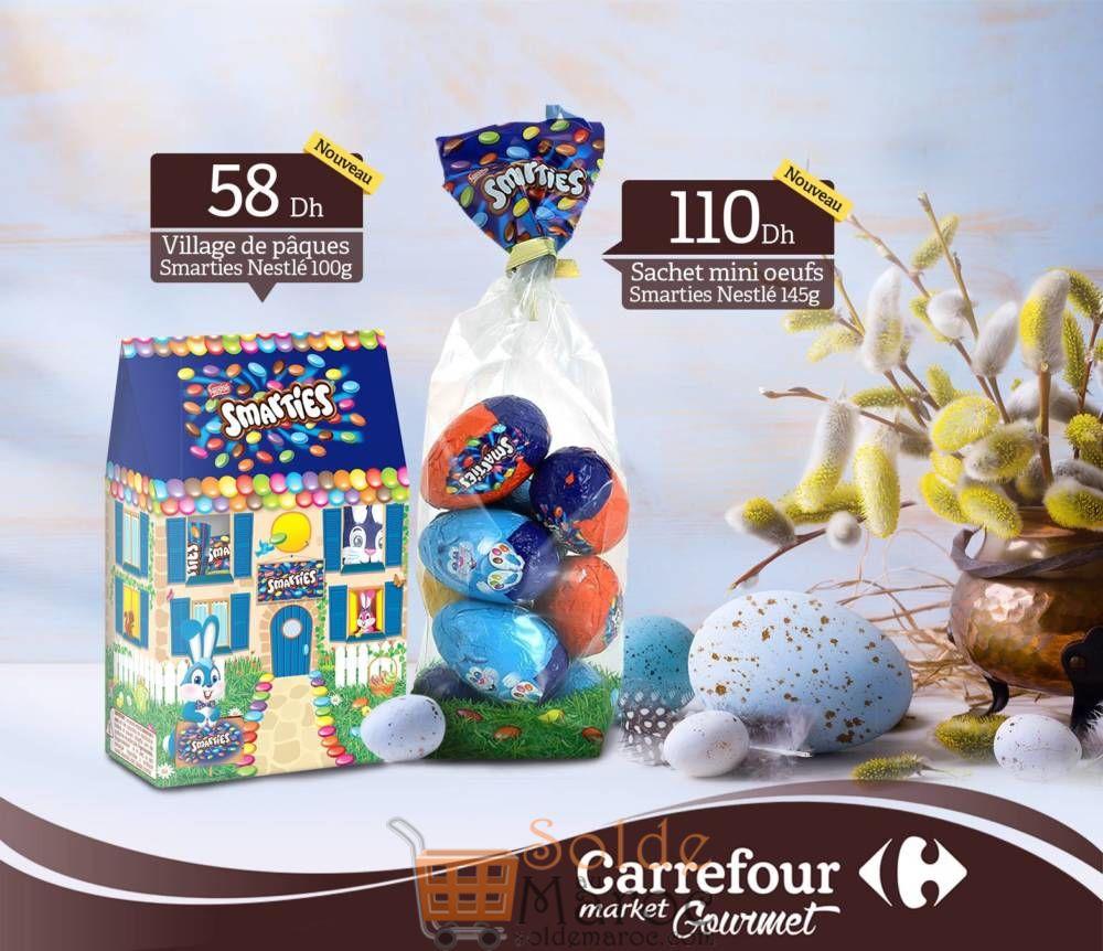 Offre Spéciale Carrefour Gourmet Pâques œufs chocolat SMARTIES